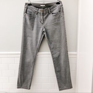 Eileen Fisher Organic Cropped grey skinny jeans